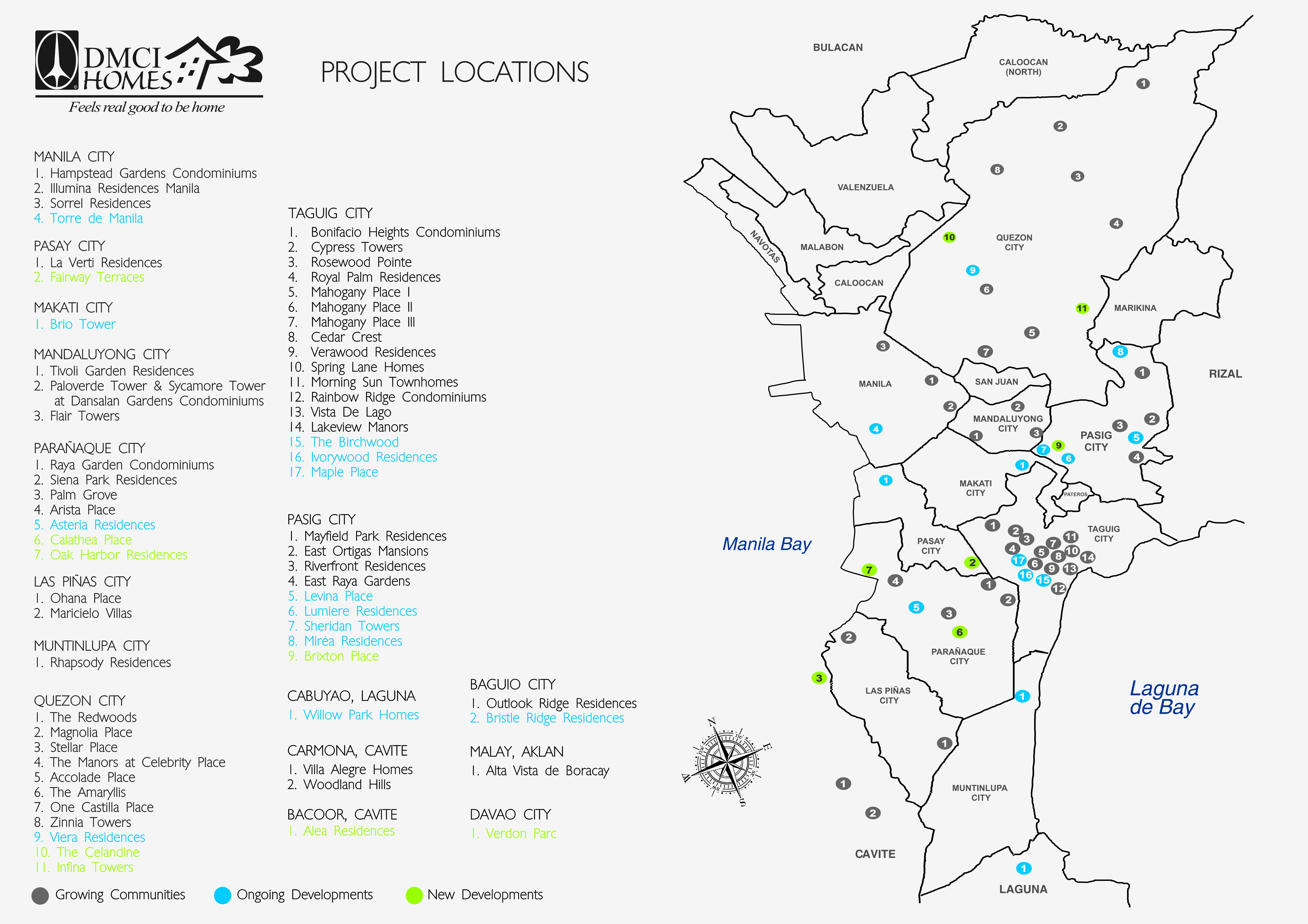 Project Map DMCI Homes iBroker Sales